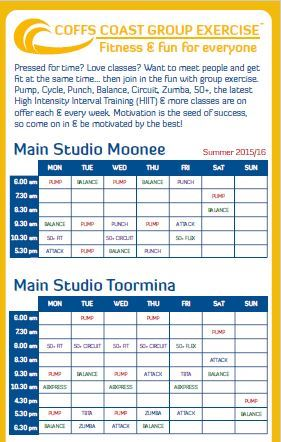 Group Ex Timetable Summer 1516 2